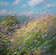 Mark PRESTON - Wild Flowers in the Breeze | British art, Landscape  paintings, Painting