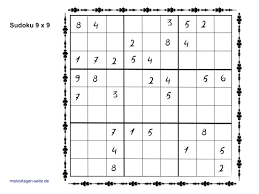 Sudoku Template Sudoku Templates 9x9 Simple Sudoku Templates Download Free