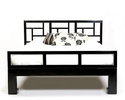 oriental modern furniture. hand made chinese elm bed with signature fretwork headboard denoting the mandarin collection lacquered to oriental modern furniture r