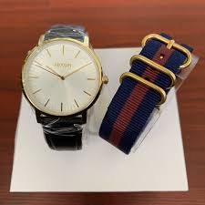 nixon porter leather watch pack w extra band