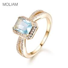 Light Green Stone Rings Us 4 79 Moliam Square Cubic Zircon Rings For Ladies Light Blue Green Stone Finger Rings 2017 Fashion Trendy Jewelry Gift Mlr376 Mlr377 In Engagement