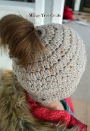 Free Crochet Pattern For Messy Bun Hat Fascinating Messy Bun Hat Free Crochet Pattern Size Preteen