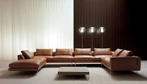 Furniture Excellent U Shaped Couch For Comfortable Living Room - Leather furniture ideas for living rooms