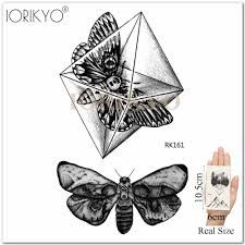 Iоригинальная черная хна цветок цепи временные татуировки наклейки для женщин