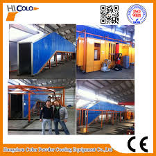china automatic electrostatic powder spray machine guardrail or fence china powder coating oven powder curing oven
