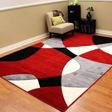 abstract wave design red black white area rug and rugs bathroom