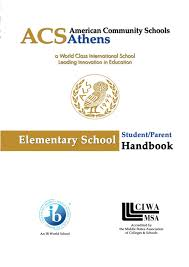 Elementary School Studentparent Handbook 2017 2018 By Acs Athens