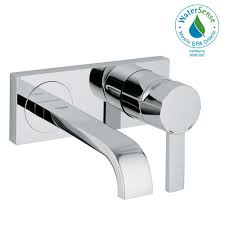 grohe allure 1 2 gpm single handle wall mount bathroom faucet in starlight chrome