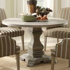 homelegance euro casual round pedestal dining table in rustic weathered 2516 48 from beyond
