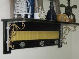 shabby chic wall shelf brackets and