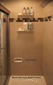 shower stall foot hold