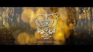 Wedding Title Template Wedding Titles Kit 100 Titles After Effects Template