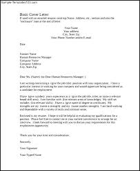 Basic Cover Letter Pdf Template Free Download Sample Templates