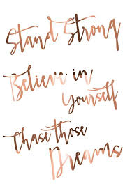 Quotes Of Believing In Yourself Best Of Inspiring Quote Print Stand Strong Believe In Yourself