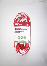 Hyper Tough Grow Light Hyper Tough 25ft Candy Cane Extension Cord Red White