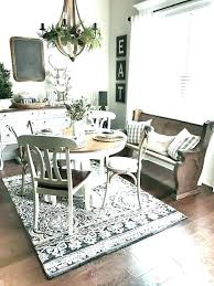 what size area rug for round dining table room rugs under farmhouse pictures of tables t