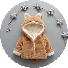 21 76 newborn baby girls clothes winter jackets warm faux fur fleece coat children jacket rabbit ear hooded outerwear kids jacket coat