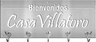 coat rack with spanish greeting and last name