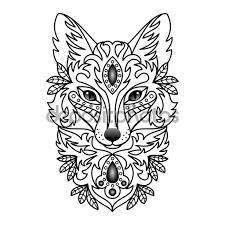 декоративные белая лиса стоковая иллюстрация 86889840 The Sly
