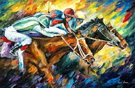 original paintings art famous artist biography official page gallery large artwork fine animal pet horse rider race sport