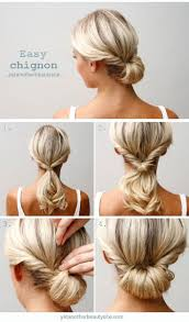Chingon Hair Style 25 best easy chignon ideas work hairstyles easy 5231 by wearticles.com