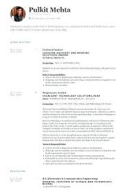 Senior Programmer Job Description Simple Senior Programmer Job Description Custom Programmer Analyst Resume