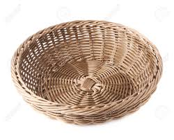 empty fruit basket. Exellent Basket Empty Fruit Wicker Brown Basket Bowl Isolated Over The White Stock Photo   39408661 Intended Fruit Basket R