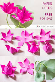 Paper Lotus Flower Flower Making With Paper Free Template And Step By Step
