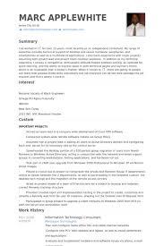 Information Technology Consultant Resume Samples Visualcv Resume
