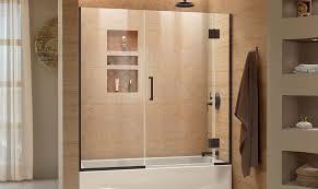tub bathtub bath semi dreamline glass sliding hinged fascinating best trackless shower door custom kohler tubshower