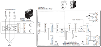 phase protection relay wiring diagram for phase diy wiring diagrams measuring motor protective relays technical guide