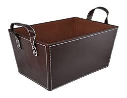 Faux Leather Magazine Holder Amazon The Lucky Clover Trading Roosevelt Faux Leather Basket 49