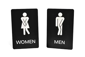 bathroom sign.  Sign Engraved Funny Bathroom Signs For Sign
