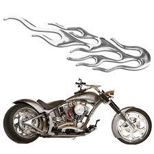 <b>MAYITR 1pc 3D</b> Flared Fire Motorcycle Sticker Auto Decal Emblem ...