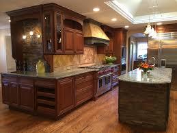 10x10 kitchen designs Kitchen Mediterranean with cherry cabinets