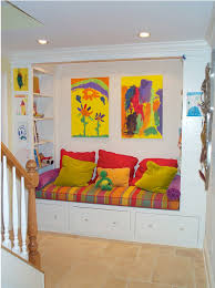reading nook furniture. bench reading nook via houzz this is a great example of how to turn sitting into for love the colorful art and cushions make it furniture