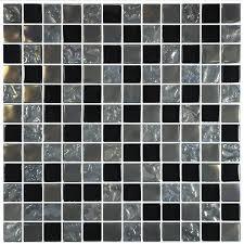 titanium black 1 x 1 glossy iridescent glass pool tile