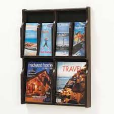 3 Hole Magazine Holder Wood Magazine Racks and Brochure Holders by Innovative Plastics 38