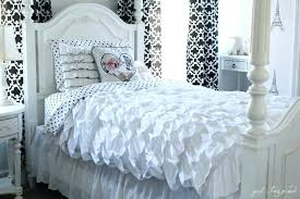 ruffled white duvet cover ruffle duvet cover twin xl