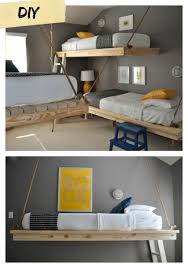 ana white easiest hanging daybed diy projects hanging loft bed plans