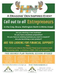 Hawks Nest Free Business Plan Training Session West Grey