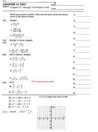 chapter 10 1 to 10 6 practice test review homework quizzes