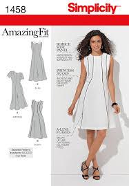 A Line Dress Pattern Extraordinary Simplicity 48 Misses' Plus Size Amazing Fit Dress