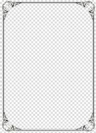 Microsoft Word Template Black Border Frame File Black