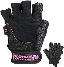 contraband pink label 5127 womens weight lifting gloves w fort soft