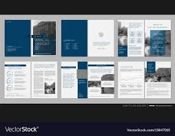 Design Annual Report Template Brochures Royalty Free Vector Delectable Annual Report Template Design