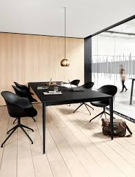 office conference room design. Office Modern Conference Room Design Black Big Table Torino Adelaide Chair Wooden Floor Boconcept Tra³jmiasto