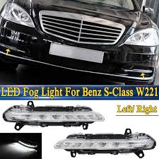 2013 Mercedes C250 Daytime Running Lights 1pcs L R Led Drl Daytime Running Light Fog Lamp Fit For Mercedes Benz S Class W221 C250 C300 C350 Cl550 For Amg Cls550 R350