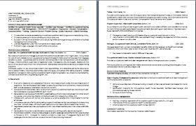 Two Page Resume Sample Format