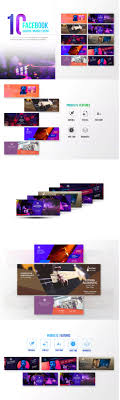 10 facebook cover event template psd